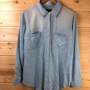 NWT RAILS Shirt With Bicycle Print